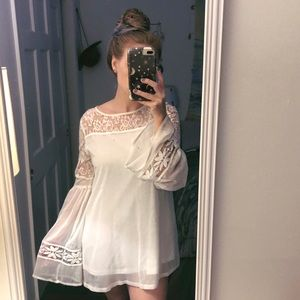 Mini Dress with Bell Sleeves